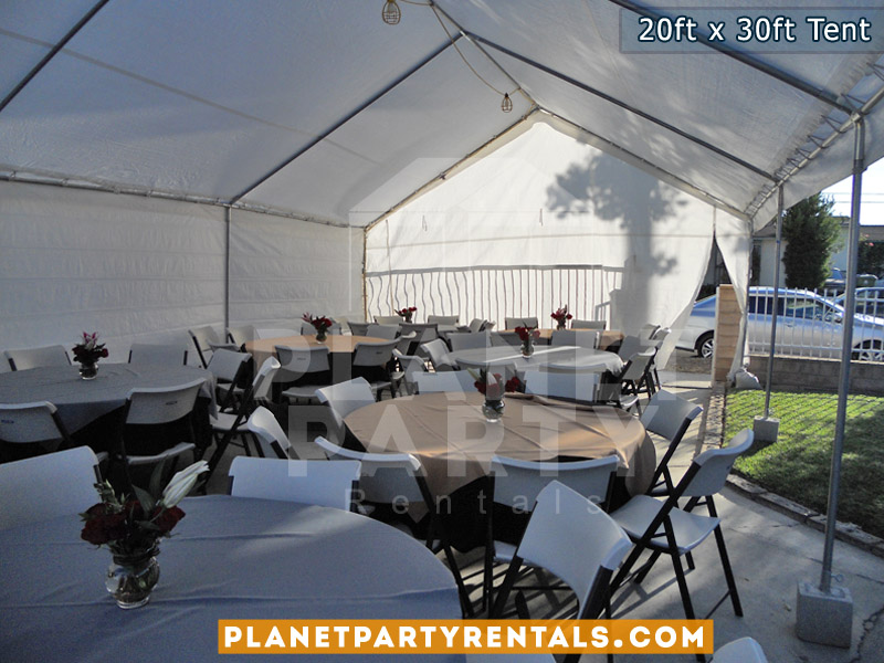 Party Tent with white Walls | San Fernando Valley Party Tent Rentals