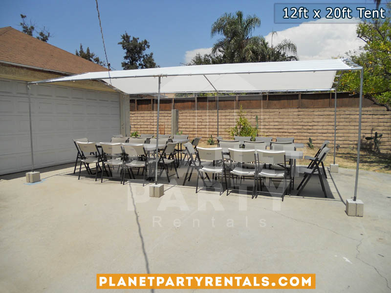 12ft x 20ft White Party Tent   San Fernando Valley Tent Rentals