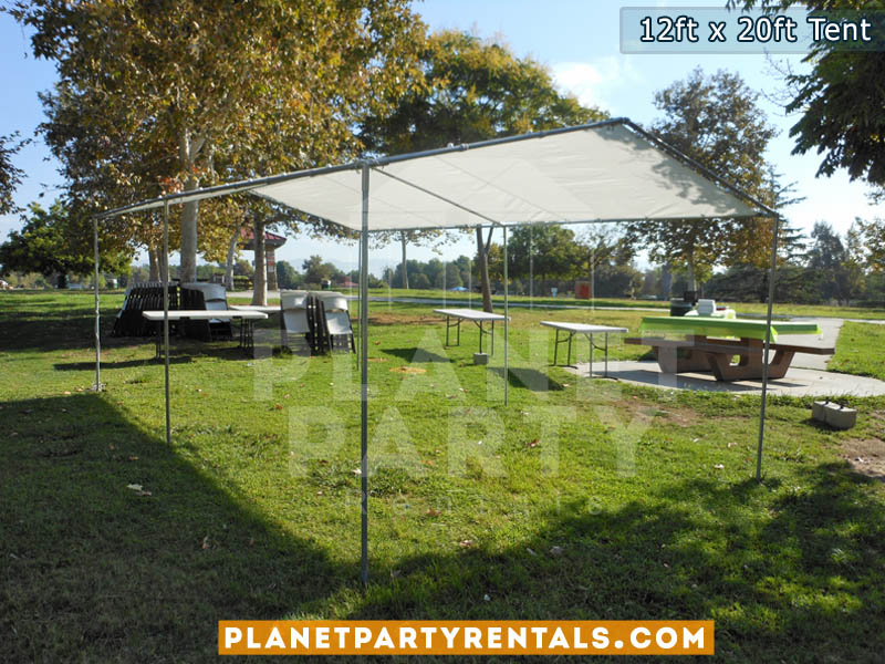 12ft x 20ft White Party Tent | San Fernando Valley Tent Rentals