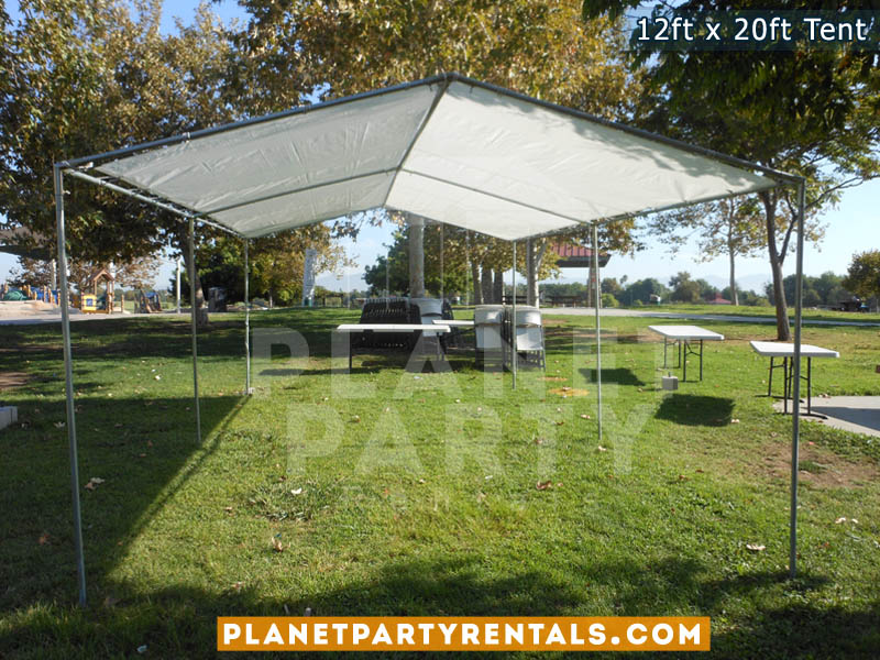 12ft x 20ft White Party Tent | San Fernando Valley Tent Rentals & 12ft x 20ft Tent Rental