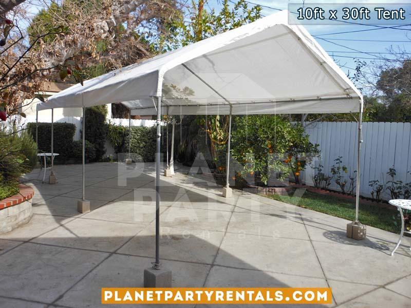 10ft x 30ft white tent | Tent rentals San Fernando Valley | White 10 feet x 30 feet tent