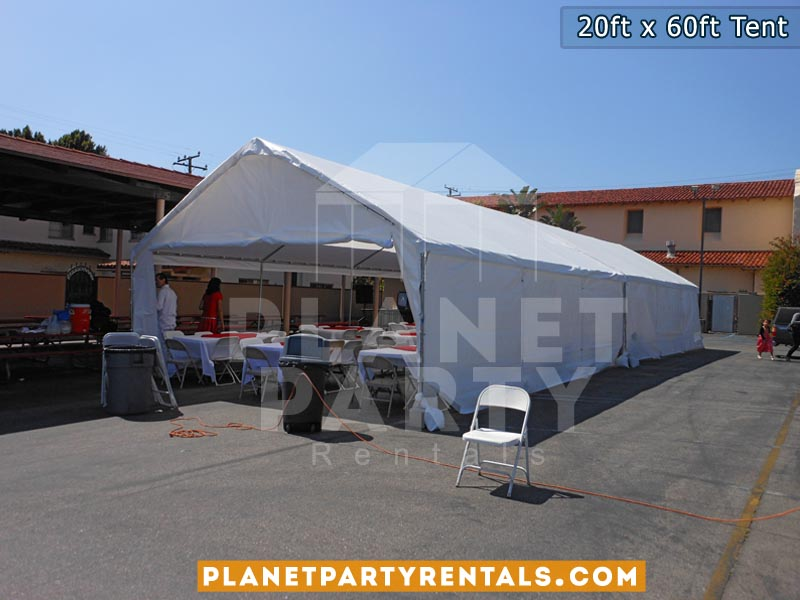 20ft x 60ft Party Tent | San Fernando Valley Party Rentals | Tent Packages | Pictures