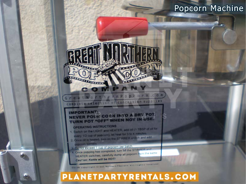 Popcorn Machine 8oz Rental | Popcorn Rentals |Party Rentals | San Fernando Valley | Van Nuys | Panorama City