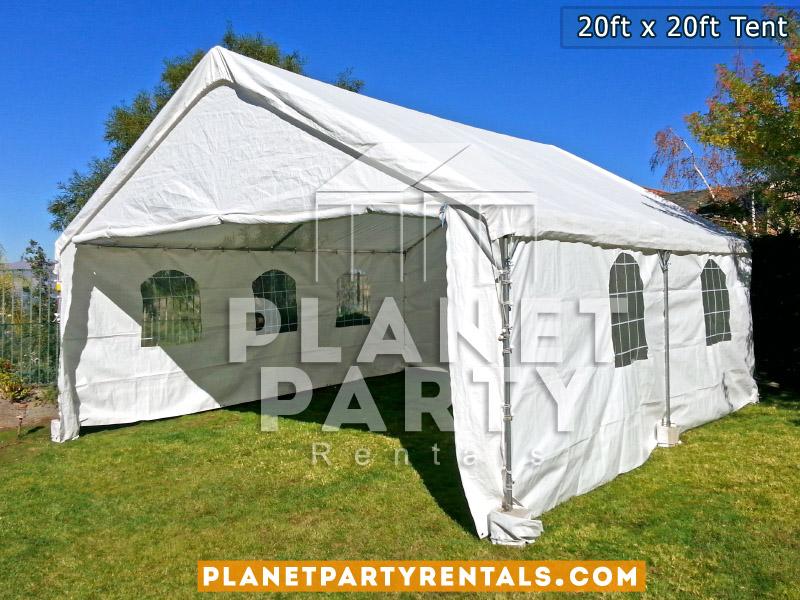 20x20 Tent with window sidewalls